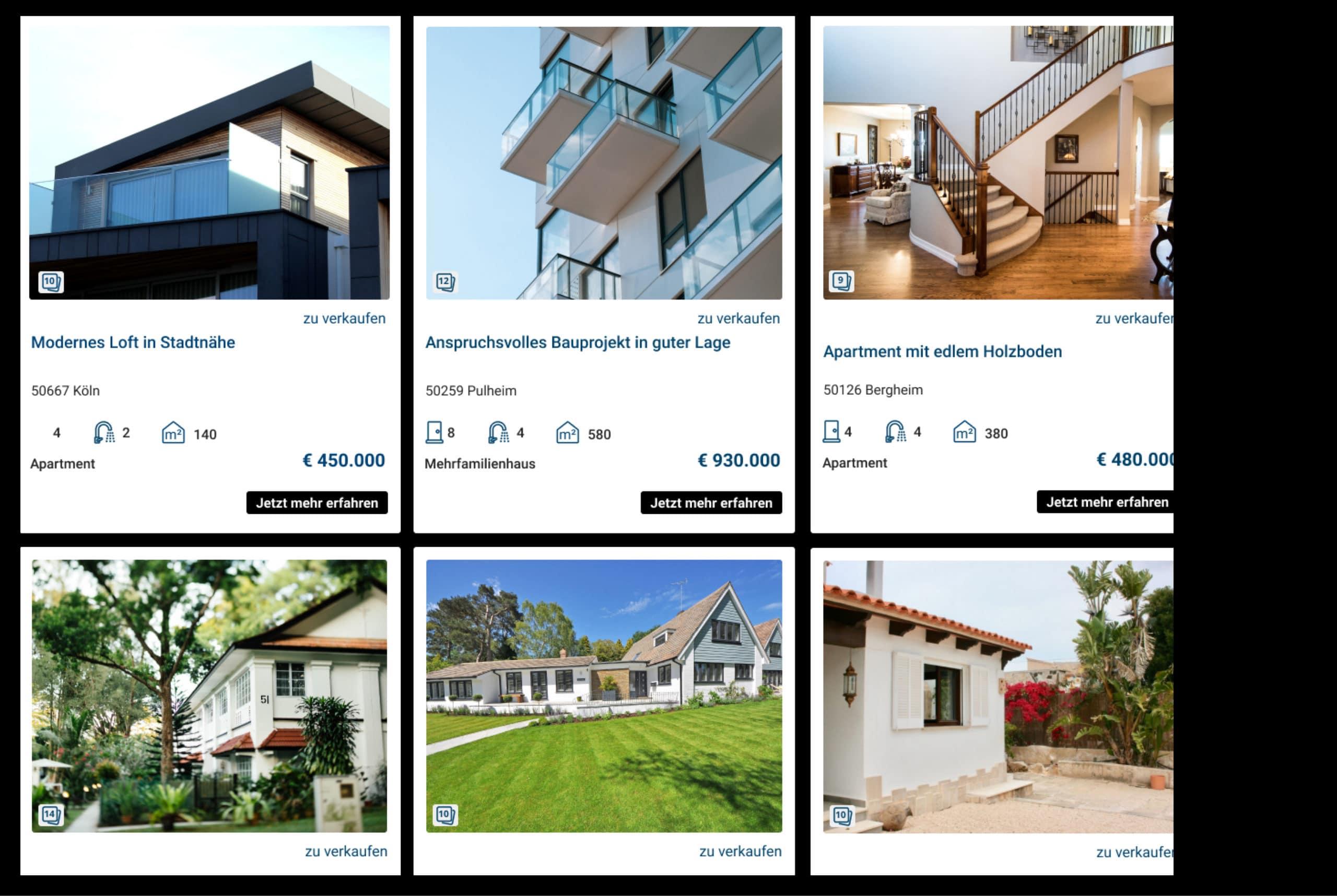 webseiten für immobilienmakler